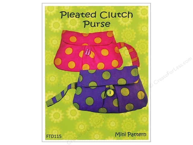 Firetrail Designs Pleated Clutch Purse Mini Pattern