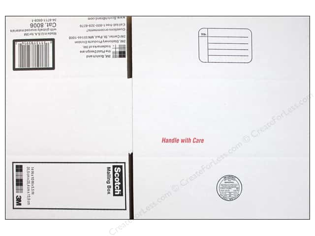 "Scotch Mailing Box 14""x 10""x 5.5"" White"