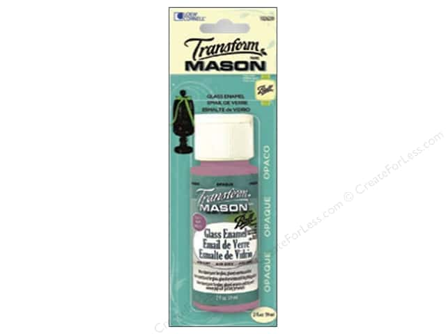 Loew Cornell Transform Mason Enamel Paint 2 oz. Opaque Baby Pink