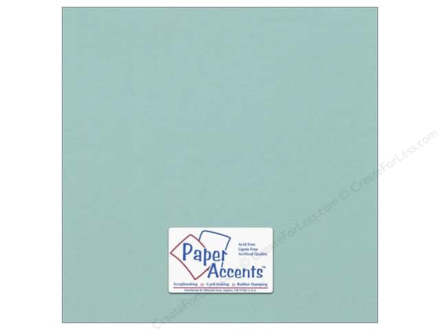 Cardstock 12 x 12 in. #18089 Smooth Seafoam by Paper Accents (25 sheets)
