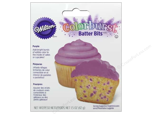 Wilton Edible Decorations Batter Bits Colorburst Purple 1.5oz
