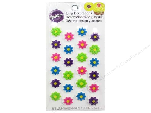 Wilton Edible Decorations Icing Mini Flower