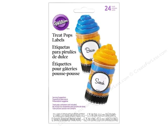 Wilton Treat Pops Labels Black & White