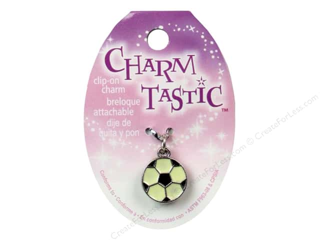 Janlynn Charmtastic Clip-On Charm Soccer Ball (3 pieces)