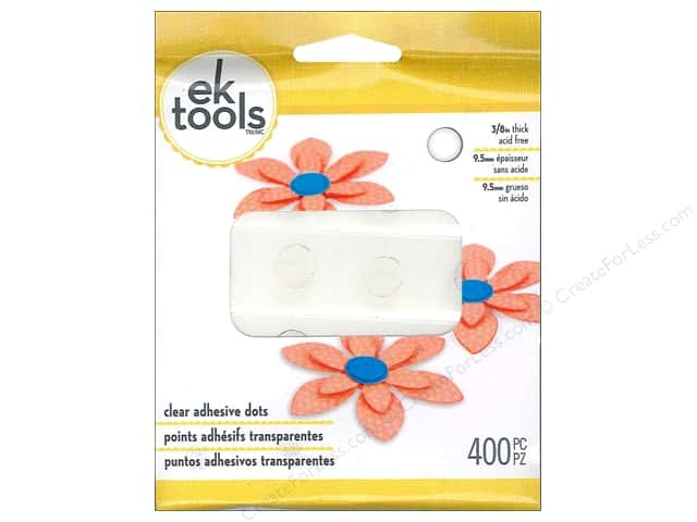"EK Adhesive Dots 3/8"" Clear 400pc"