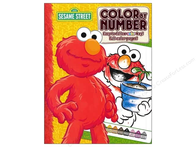 Bendon Color By Number Book Sesame Street