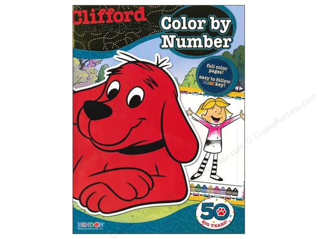 Bendon Color By Number Book Clifford the Big Red Dog