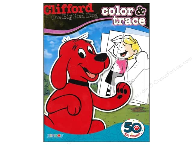Bendon Color & Trace Book Clifford the Big Red Dog