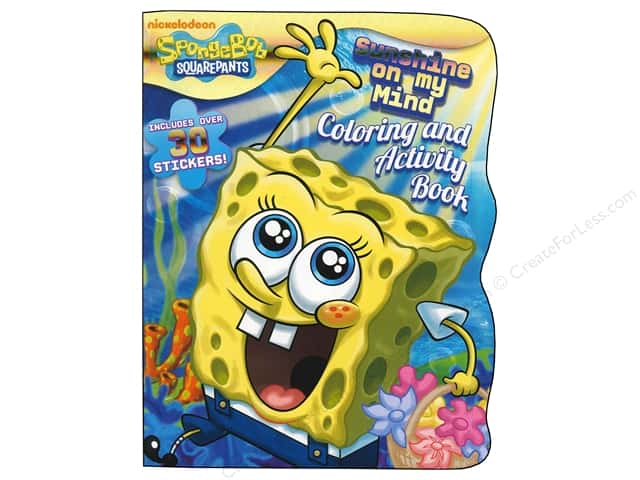 Bendon Shaped Coloring & Activity Book with Stickers SpongeBob SquarePants