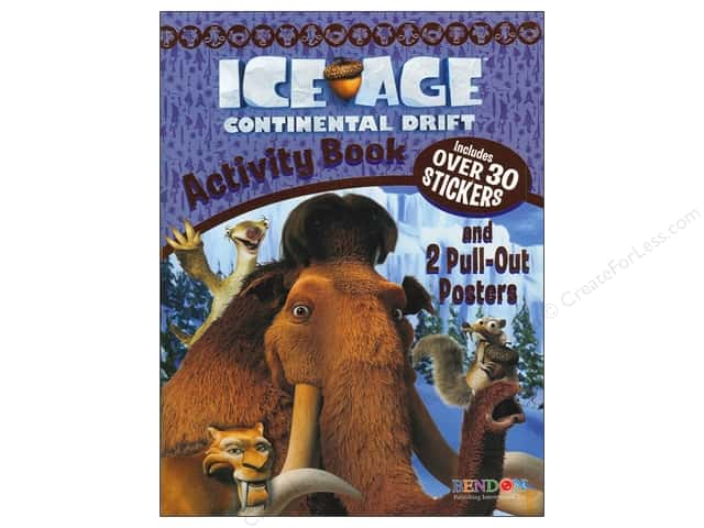 Bendon Activity Book with Posters Ice Age 4