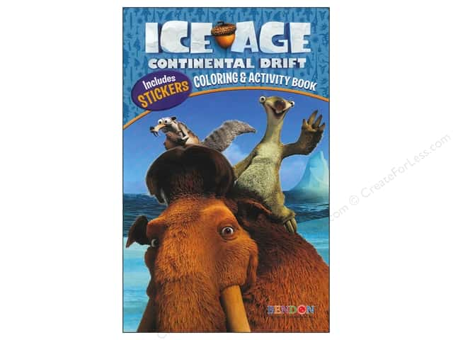 Bendon Coloring & Activity Book with Stickers Ice Age 4