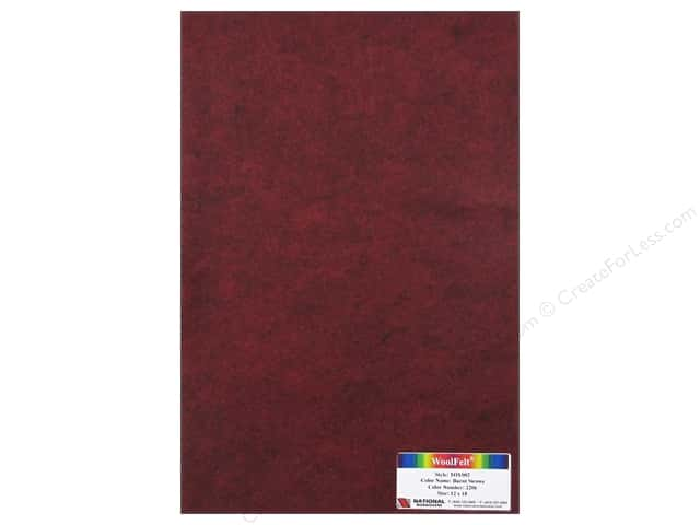 National Nonwovens WoolFelt 12 x 18 in. 35% Burnt Sienna (12 pieces)