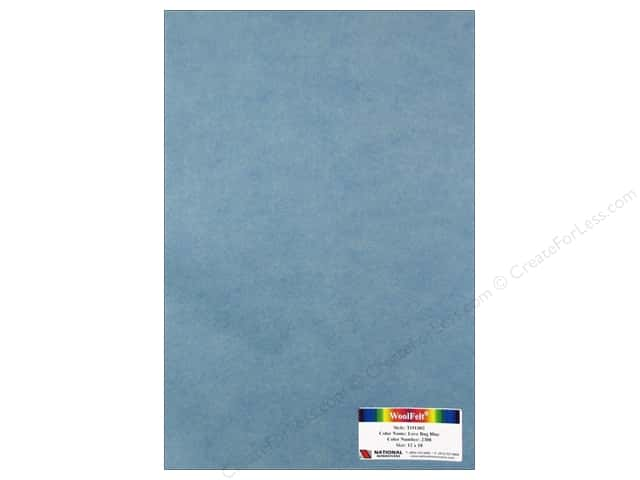 National Nonwovens WoolFelt 12 x 18 in. 35% Love Bug Blue (12 pieces)