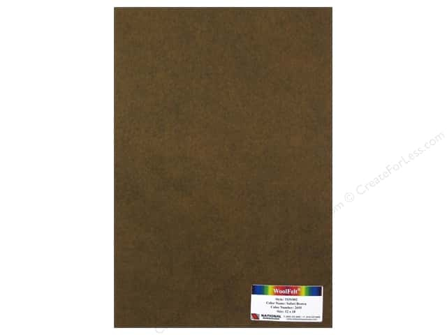 National Nonwovens WoolFelt 12 x 18 in. 35% Safari Brown (12 pieces)