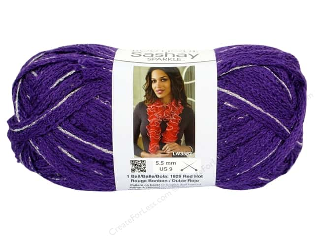 Red Heart Boutique Sashay Yarn #1575 Sparkle Lilac 35 yd.