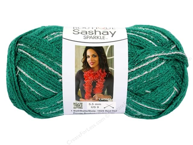 Red Heart Boutique Sashay Yarn 3.5 oz. Sparkle Emerald