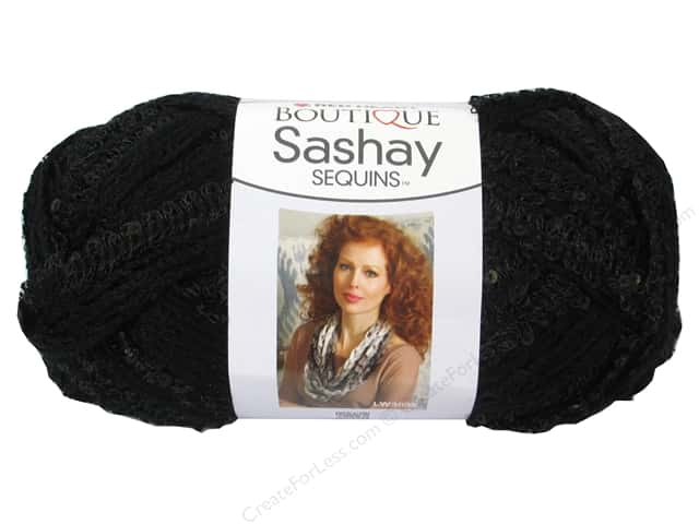 Red Heart Boutique Sashay Yarn 3.5 oz. Sequin Caviar