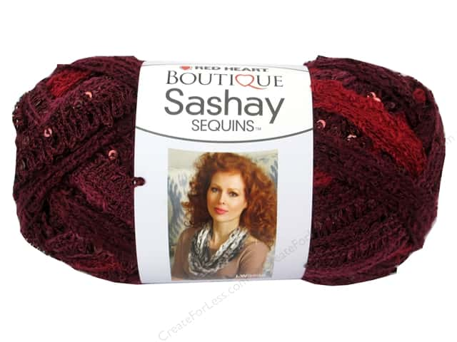 Red Heart Boutique Sashay Yarn 3.5 oz. Sequin Cabernet