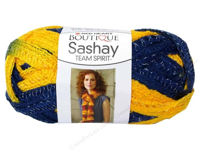 Red Heart Boutique Sashay Team Spirit Yarn 3.5 oz. Navy/Gold