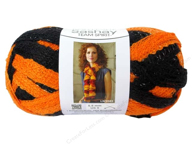 Red Heart Boutique Sashay Team Spirit Yarn #0972 Orange/Black 30 yd.