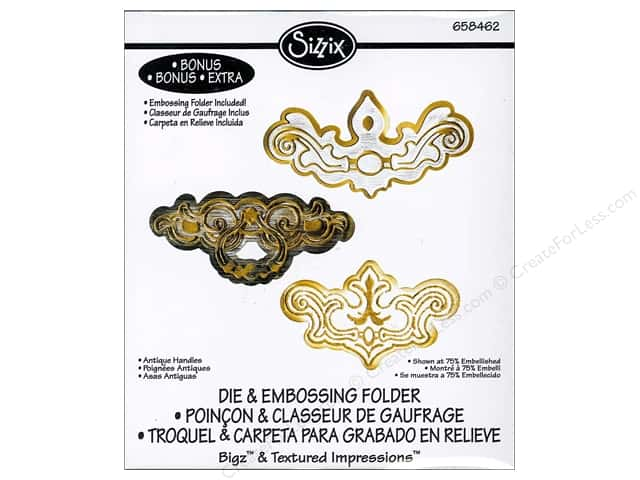 Sizzix Bigz Die with Textured Impressions Antique Handles by Jen Long