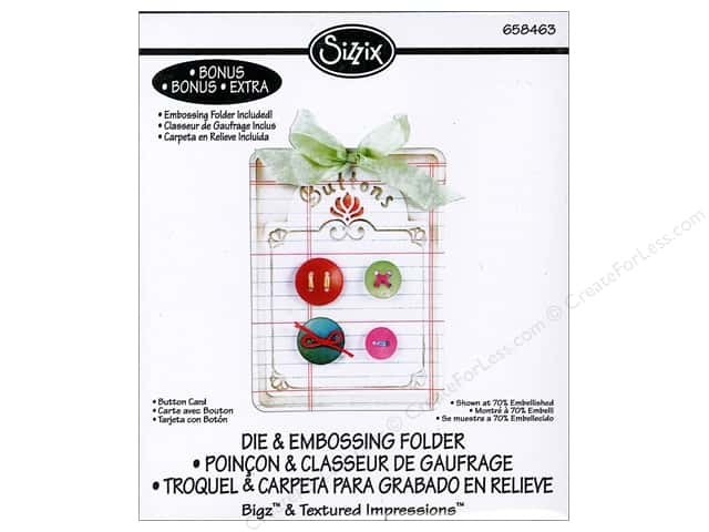 Sizzix Bigz Die with Textured Impressions Button Card