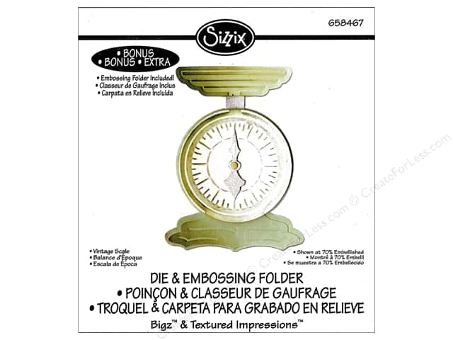 Sizzix Bigz Die with Textured Impressions Vintage Scale by Jen Long