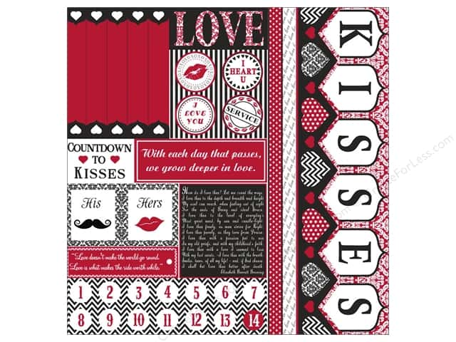 Canvas Corp 12 x 12 in. Paper White Countdown To Kisses (15 pieces)
