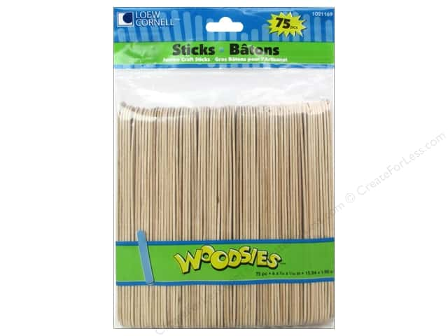 Woodsies Craft Sticks Jumbo 75 pc.