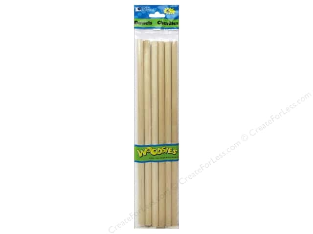 Woodsies Wood Dowels 12 x 3/8 in. 6 pc.