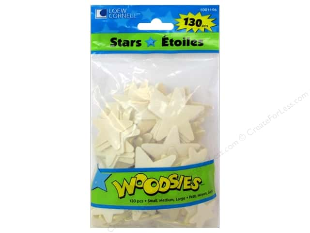 Woodsies Wood Shapes Stars 130 pc.
