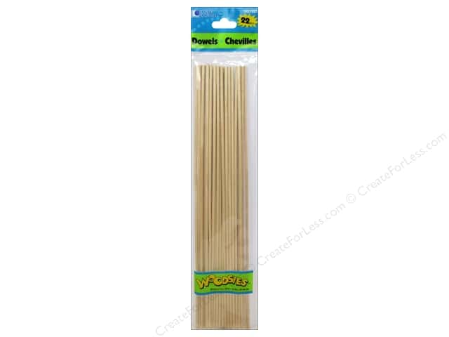 Woodsies Wood Dowels 12 x 1/8 in. 22 pc.