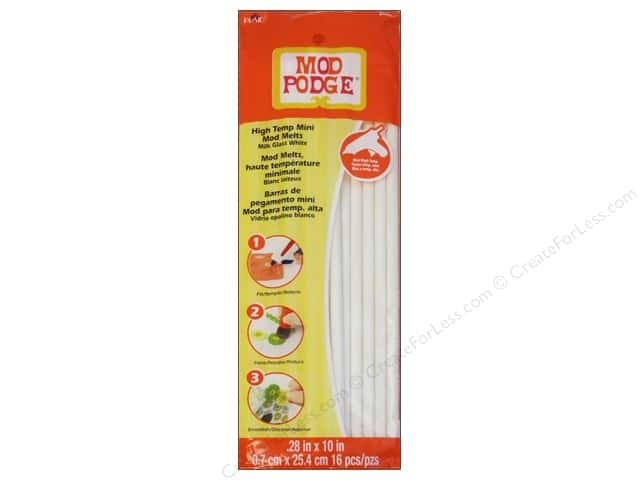 Plaid Mod Podge Tools Mod Melts Mini White Milk Glass 16pc