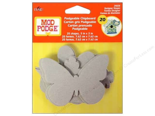 Plaid Mod Podge Podgeable Chipboard Shapes 20pc