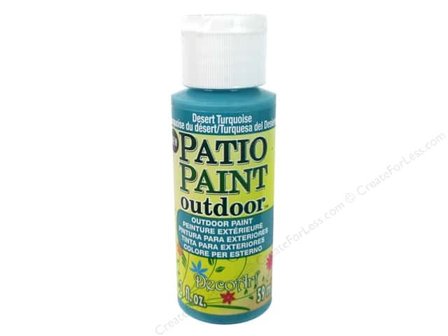 DecoArt Patio Paint Outdoor Acrylic Paint 2 oz. #79 Desert Turquoise