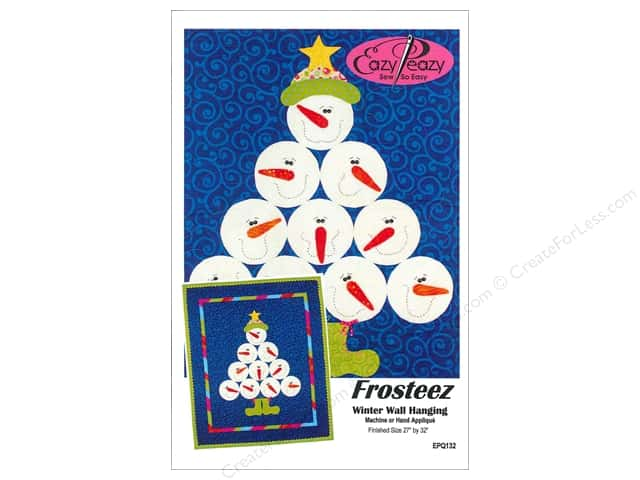 Frosteez Winter Wall Hanging Pattern by Eazy Peazy