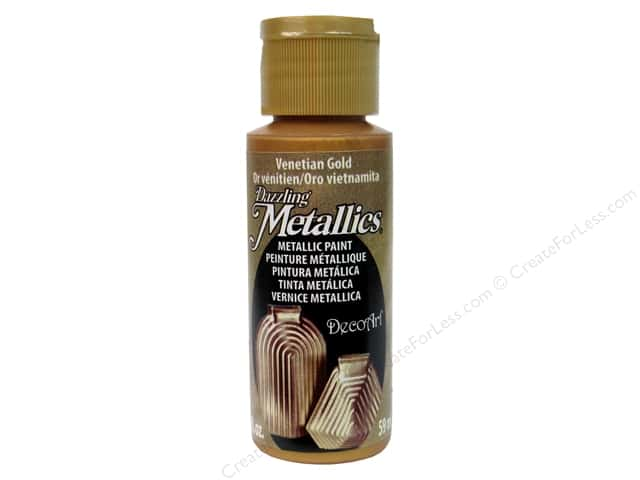 DecoArt Dazzling Metallics Paint 2 oz Venetian Gold