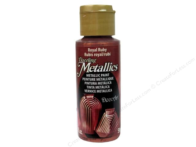 DecoArt Dazzling Metallics Paint 2 oz Royal Ruby