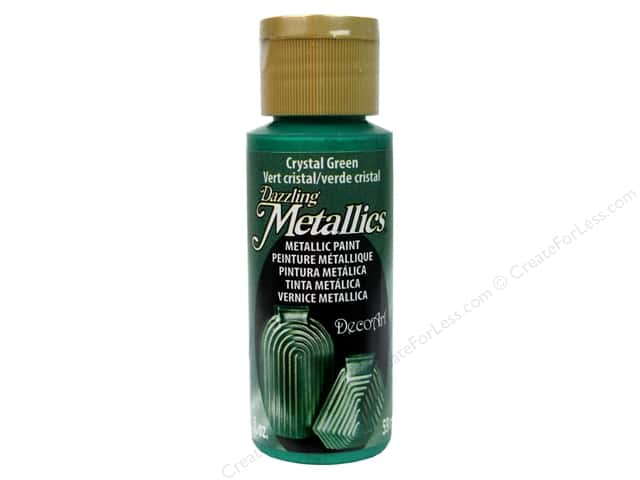 DecoArt Dazzling Metallics Paint 2 oz Crystal Green