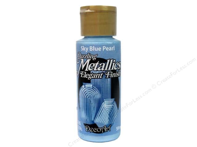 DecoArt Dazzling Metallics Paint 2 oz Sky Blue Pearl