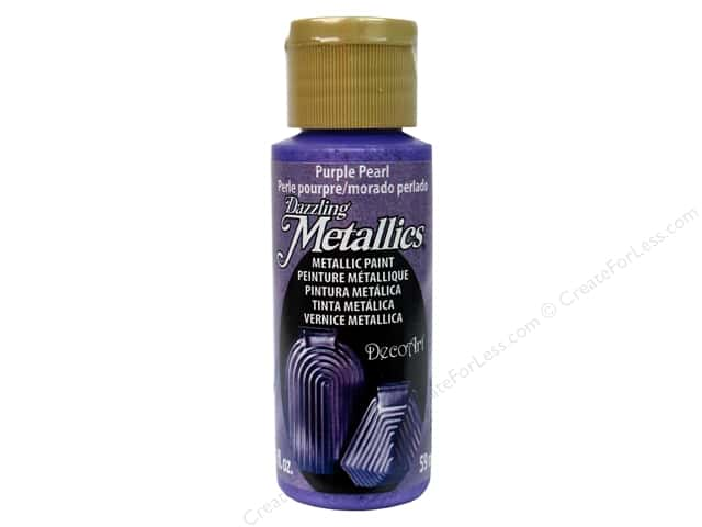 DecoArt Dazzling Metallics Paint 2 oz. Purple Pearl
