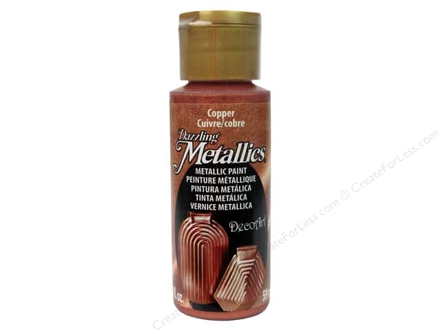 DecoArt Dazzling Metallics Paint 2 oz Copper