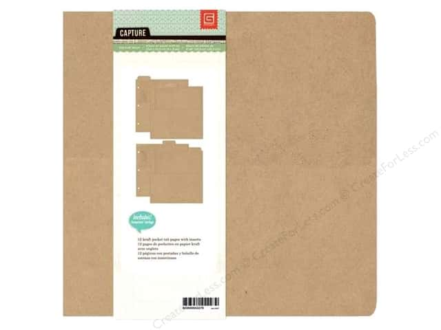 BasicGrey Album 8 x 8 in. 3-Ring Kraft