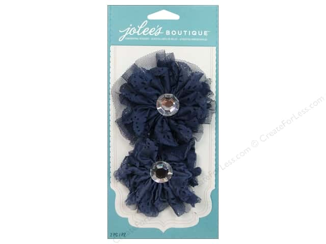 Jolee's Boutique Stickers Le Fleur Large Eyelet Flower Blue