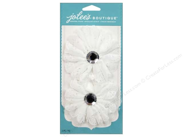 Jolee's Boutique Embellishments Le Fleur Large Eyelet Flower White