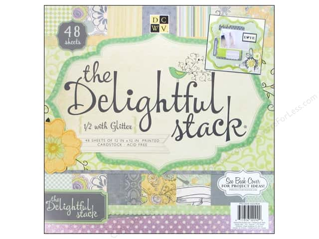 Die Cuts With A View 12 x 12 in. Cardstock Mat Stack Delightful