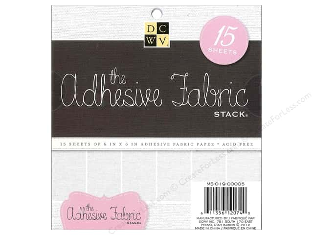 "DieCuts Adhesive Stack 6""x 6"" Fabric White"