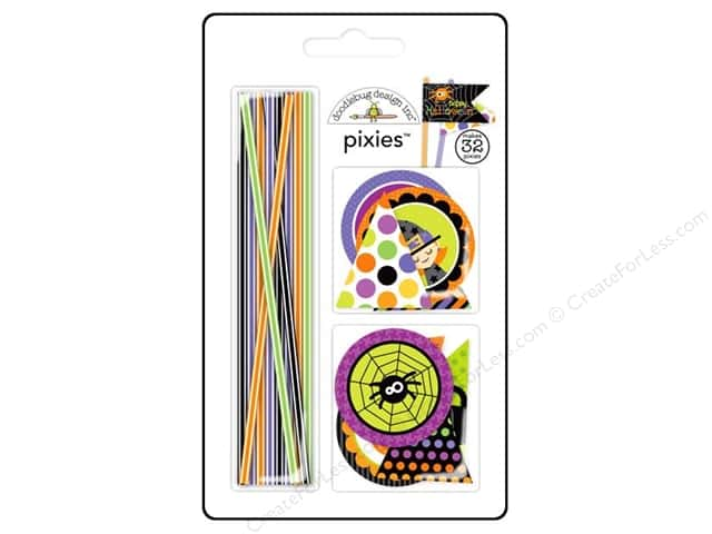 Doodlebug Embellishment Halloween Parade Pixies Set