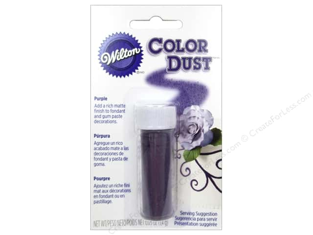 Wilton Edible Decorations Color Dust .05oz Purple