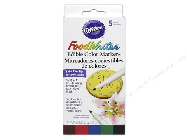 Wilton Decorating Color FoodWriter Edible Marker Extra Fine Primary